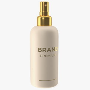 3D gold cosmetic spray bottle model