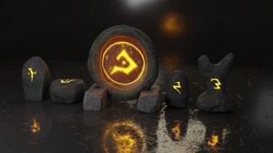 runestones baking 3D model