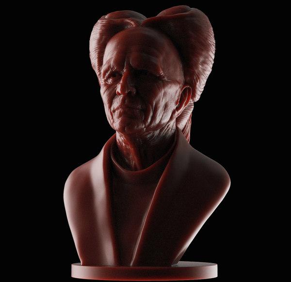 3D bust dracula