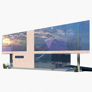 3D glass office model
