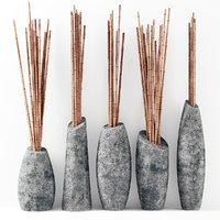 3D branch bamboo