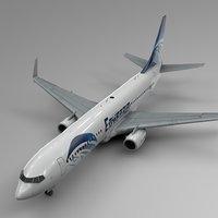 3D egyptair boeing 737-800 l435 model