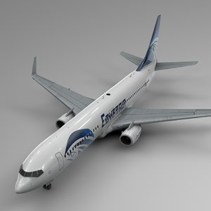 3D egyptair boeing 737-800 l435 model