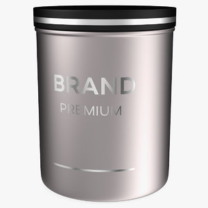 3D black cosmetic jar model