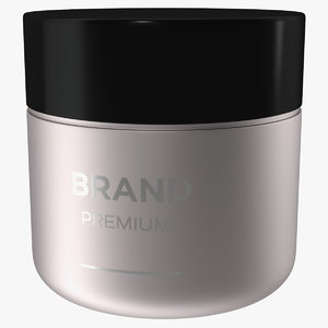3D black cream jar