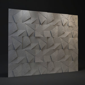 abstract panel 3D model