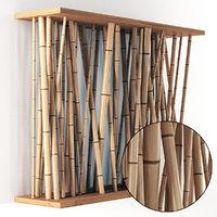 3D model decor bamboo wall