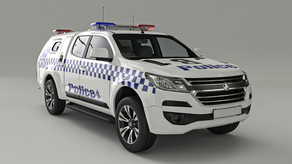 3D model holden colorado space cab