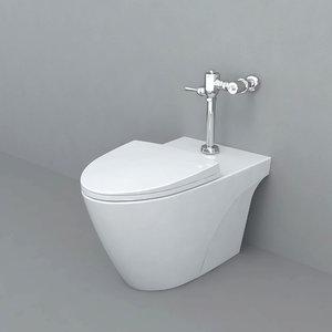 3D model toilet wc