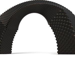 3D circle metal