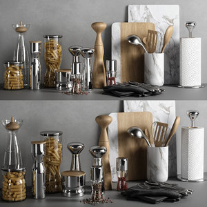 kitchen decor set 04 3D