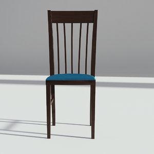 3D chair wood wooden