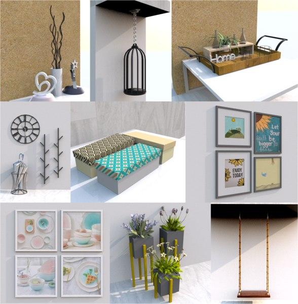 furniture decoration 3D model