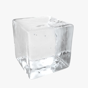 3D ice cube bubbles model