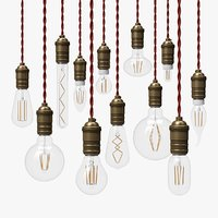 12 LED Filament Bulbs