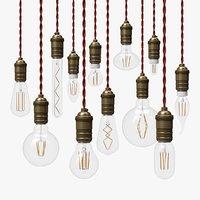 12 LED Filament Bulbs