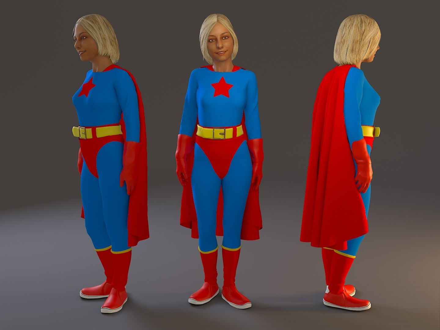 cosplay female 3D model