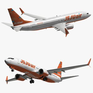 3D model boeing 737 800
