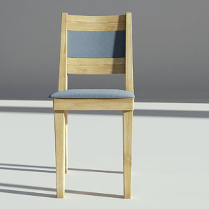 wood chair wooden model