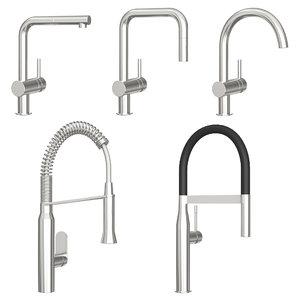 3D grohe kitchen faucet model
