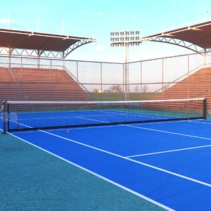 3D real tennis model