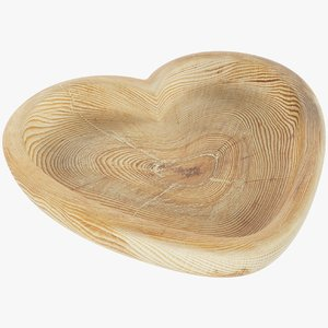 3D wooden plate model