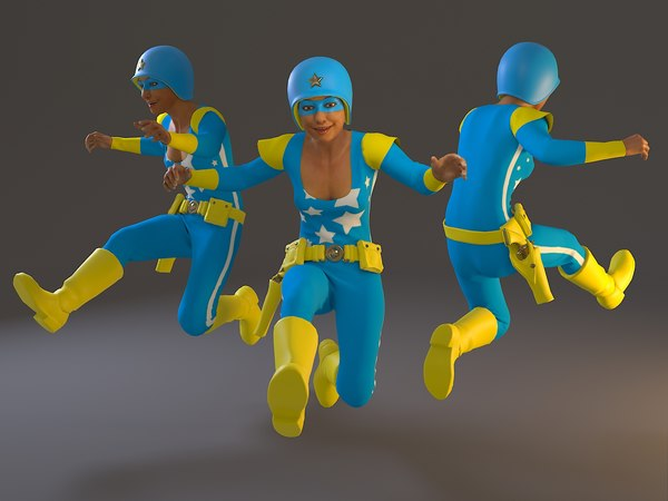 3D model female cosplay bcc 2130