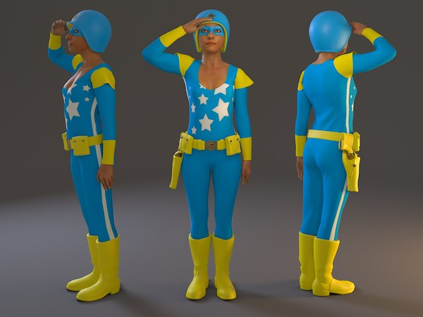female cosplay bcc 2130 3D model