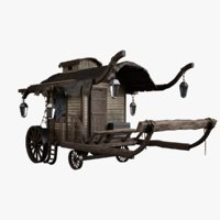 medieval wagon model