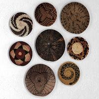Wicker African wall baskets
