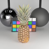 scanned pineapple 3D model