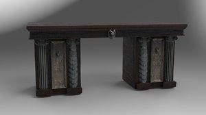 3D fantasy desk