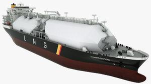 3D model lng tanker diamond gas