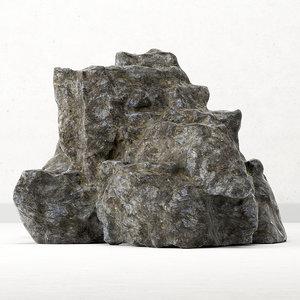 rock sea 3D model