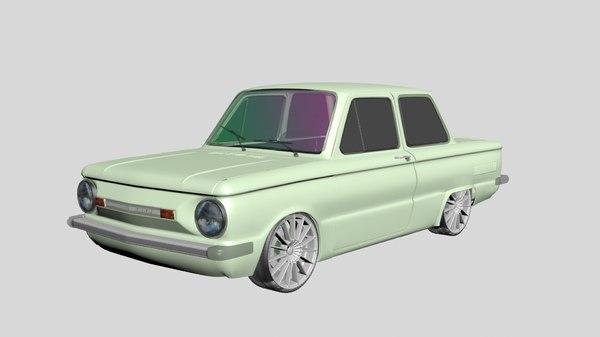 3D soviet car model
