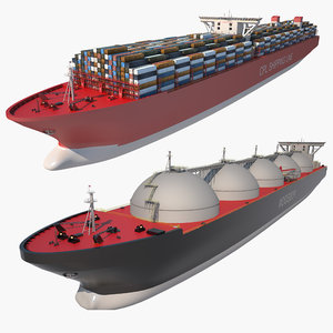 lng tanker ship container model