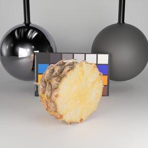 scanned half pineapple 3D model