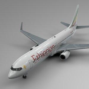 ethiopian airlines boeing 737-800 3D