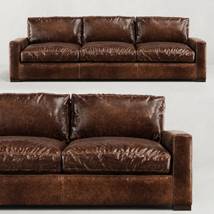3D model restoration maxwell leather three-seat-cushion