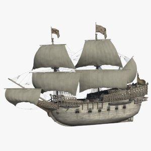 galleons sailing ships model