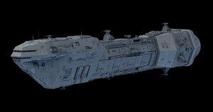 lancer spaceship 3D model