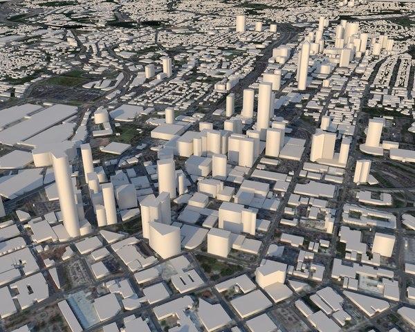 architectural buildings 3D model