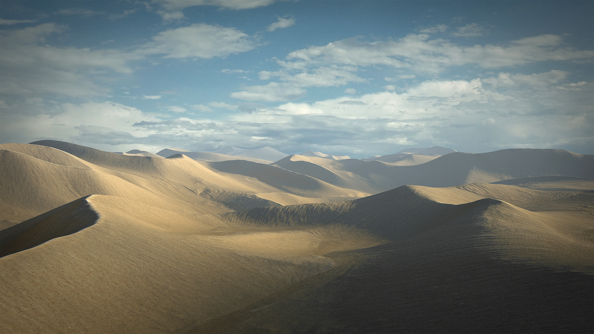 3D desert dune sand model