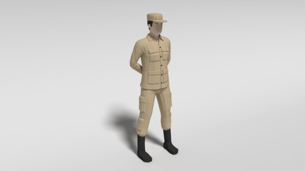 3D soldier blender model