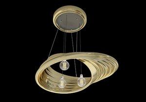 3D mobius strip lamp interior