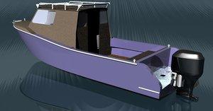 powerboat 3d model