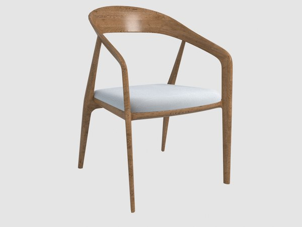 capri armchair bernhardt design 3D model