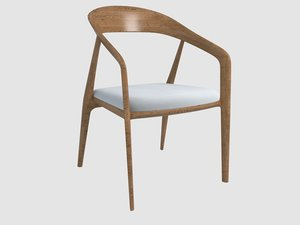 capri armchair bernhardt design 3D model