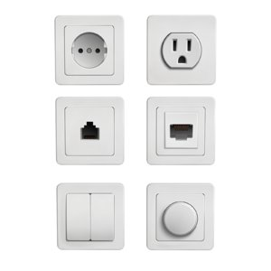 switches sockets 3D model