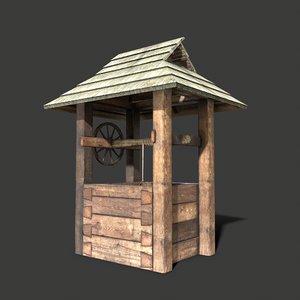3D old village architecture model